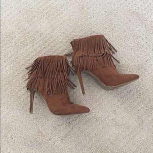 JustFab Tassle-heeled booties